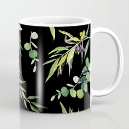 Eucalyptus and Olive Pattern  Coffee Mug