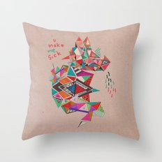 S I C K  Throw Pillow