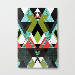 Tropical Mod Geometric Metal Print