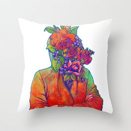 FLOWERS HEAD Throw Pillow