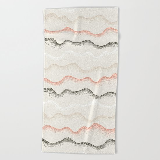 Retro Dotted Pattern 02 Beach Towel