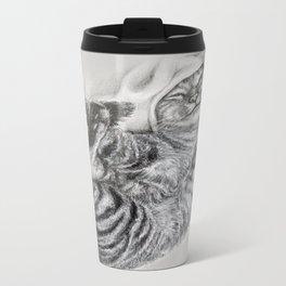 Cute Tabby Cat Metal Travel Mug
