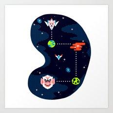 Overworld: Space Art Print
