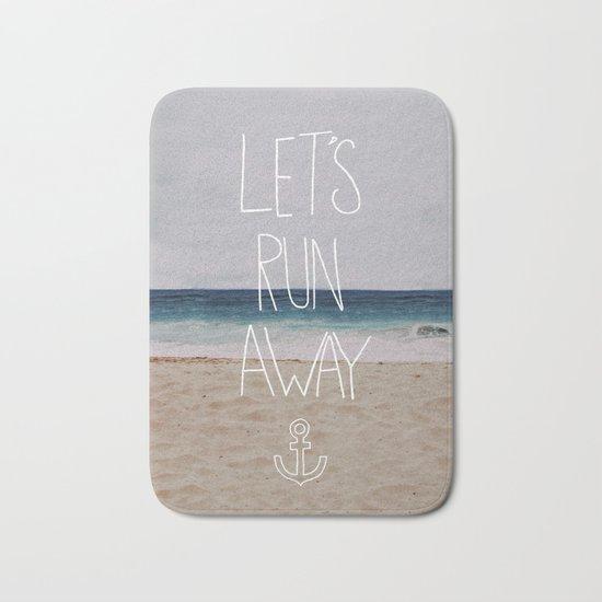 Let's Run Away | Sandy Beach, Hawaii Bath Mat