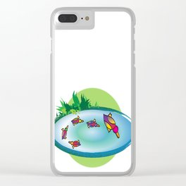 Lucky Ducks Clear iPhone Case