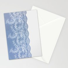 Lace #Blue Stationery Cards