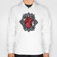 anatomical heart Hoodies featuring Anatomical  by the inked skull