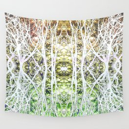124 - White branches design Wall Tapestry