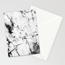 Marble Concrete Stone Texture Pattern Effect Dark Grain Stationery Cards