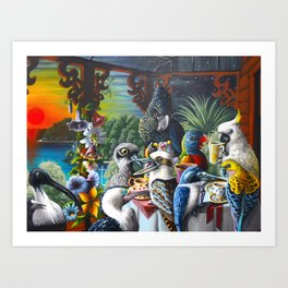 Chit-Chat On The Island Art Print