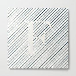 Striped F Metal Print