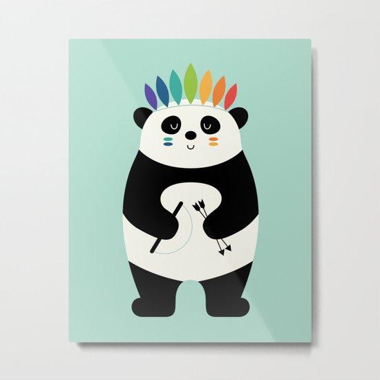 Be Brave Panda Metal Print