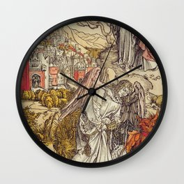 Albrecht Durer - Angel With The Key Of The Abyss Wall Clock