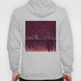 detroit city skyline Hoody
