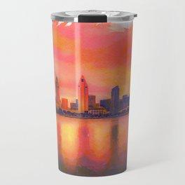 sunset skyline of San Diego Travel Mug