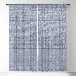 The Rosetta Stone // Navy Blue Sheer Curtain