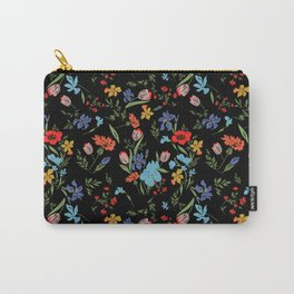 Flowery Carry-All Pouch