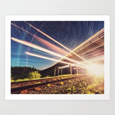 'Midnight Train to Georgia' Art Print