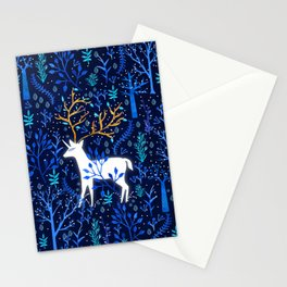 Deericorn In Blue Stationery Cards