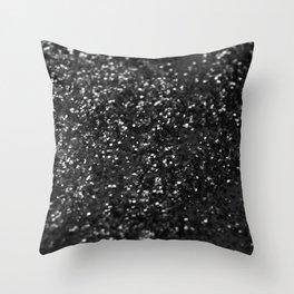 Black & Silver Glitter #1 #decor #art #society6 Throw Pillow
