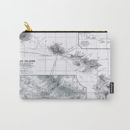 Vintage Hawaii Map 1899 Carry-All Pouch