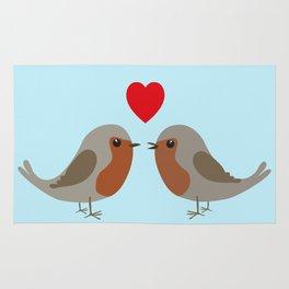 Two cute robins Rug