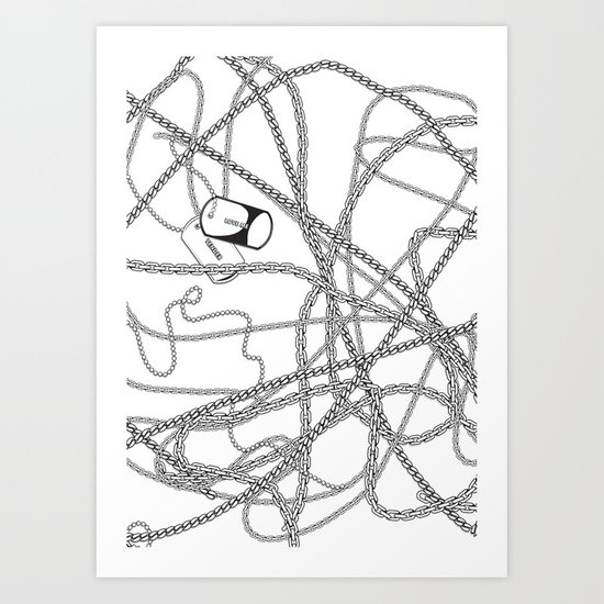 TENDER LOVE Art Print