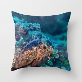 The scorpion fish's chin Throw Pillow