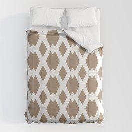 Daffy Lattice Cafe Latte Comforters