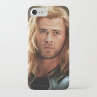 thor iPhone & iPod Cases featuring Thor by LindaMarieAnson