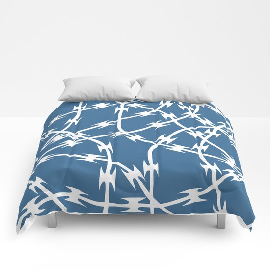 Blue Barb Comforters
