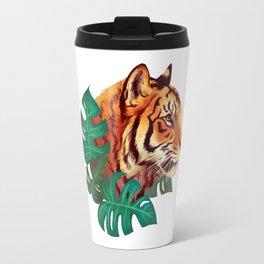 Monstera Tiger Travel Mug