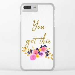 You got this - Flower Collection Clear iPhone Case