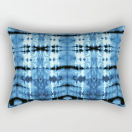 Indigo Satin Shibori Rectangular Pillow
