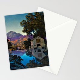 Evening Shadows by Maxfield Parrish Stationery Cards