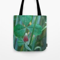 clover Tote Bags featuring Clover by Christine baessler