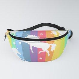 Rainbow Unicorns Fanny Pack