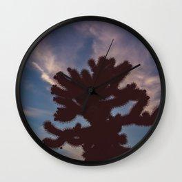 Cholla Cactus Garden VII Wall Clock