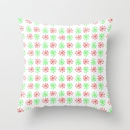 Arrows 1 - green and red Throw Pillow