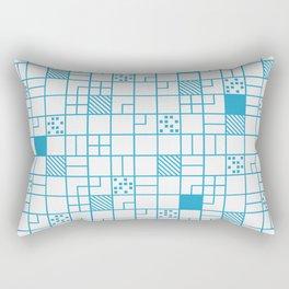 Boxes Blue Rectangular Pillow