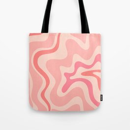 Liquid Swirl Abstract in Soft Pink Tote Bag