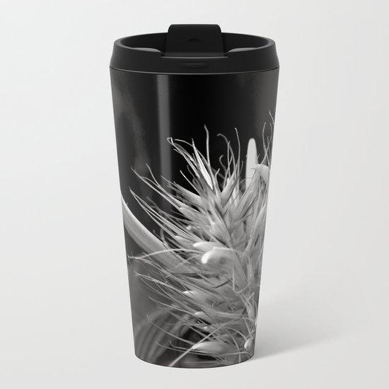 Bizzarre Flower Charm Metal Travel Mug