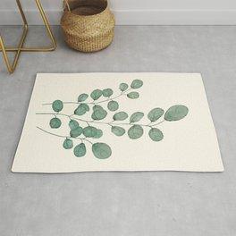 Watercolor Eucalyptus Rug
