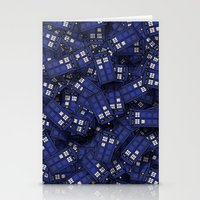 doctor Stationery Cards featuring Tardis by 10813 Apparel