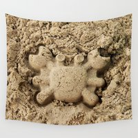 crab Wall Tapestries featuring crab by Кaterina Кalinich