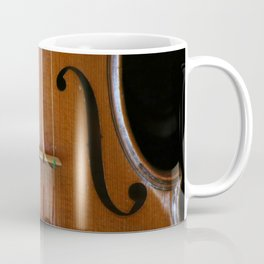 Close-up of Beautiful Violin Black Background #decor #society6 #buyart Coffee Mug