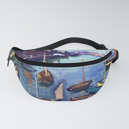 Yachts on a lake Fanny Pack