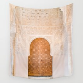 Alhambra door | Granada Spain travel photography | Bright and pastel colored photo art print Wall Tapestry