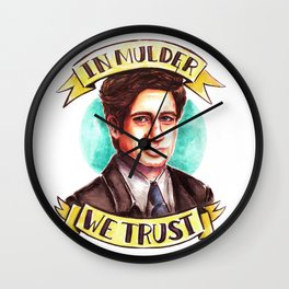 In Mulder We Trust Wall Clock