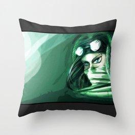 The green punk Throw Pillow